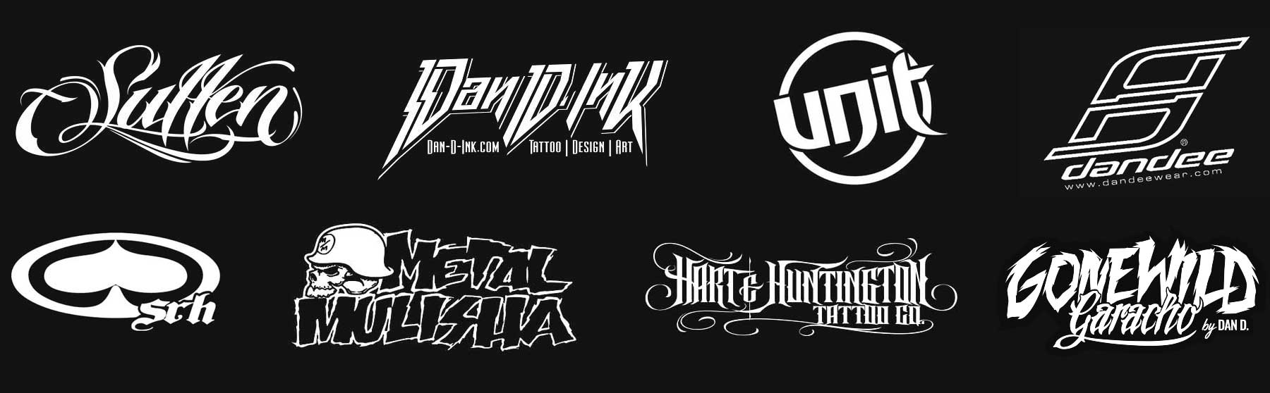 Sullen, Dan D. Ink, UNIT, Dandee, SRH, Metal Mulisha, Hurt & Huntington